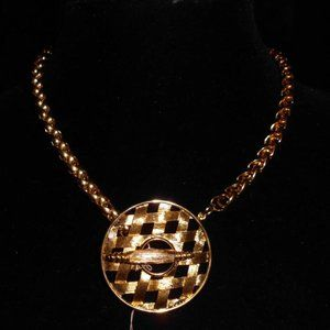 Pastelli Signed High Quality Gold Tone Necklace